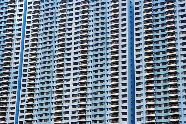 apartments in hong kong - unterschicht stereotypen stock-fotos und bilder
