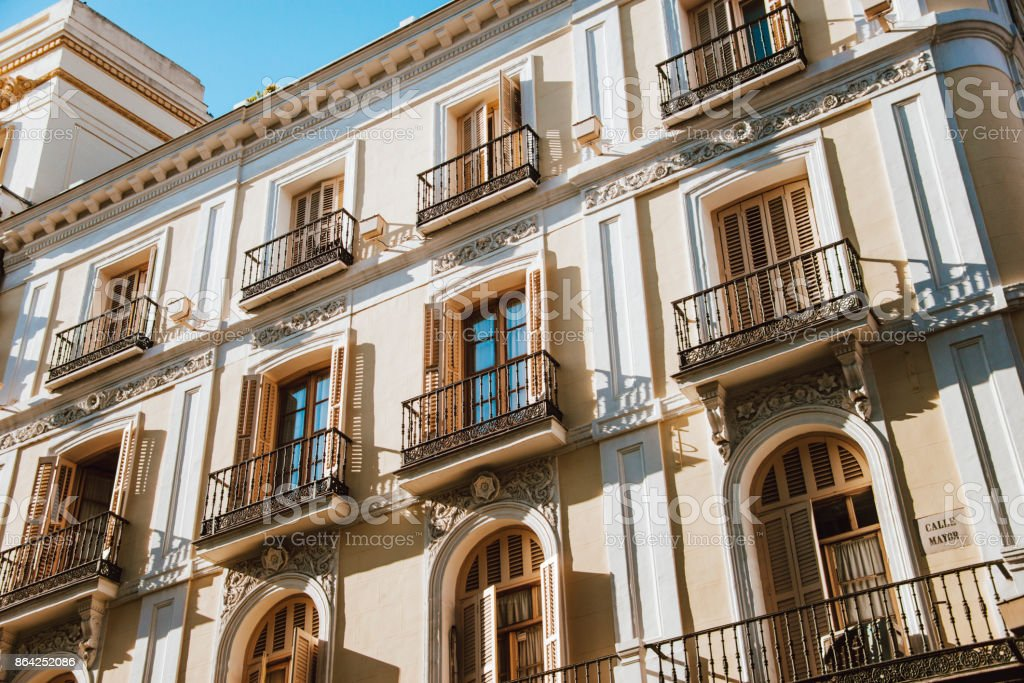 Apartments in Madrid, Spain royalty-free stock photo