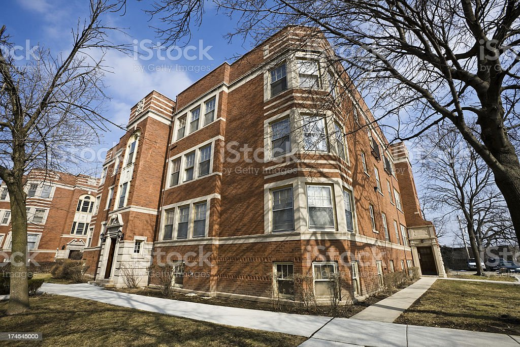 Apartments in Morgan Park Chicago royalty-free stock photo