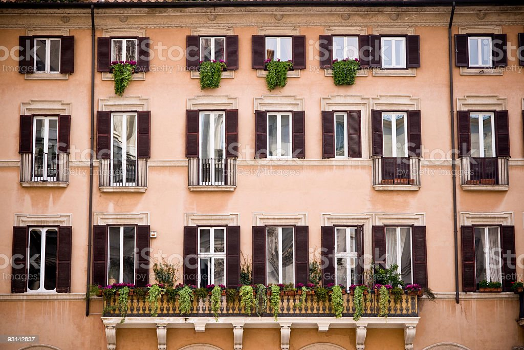 Apartments in Rome royalty-free stock photo
