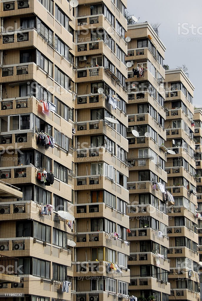 Apartments in Shanghai royalty-free stock photo