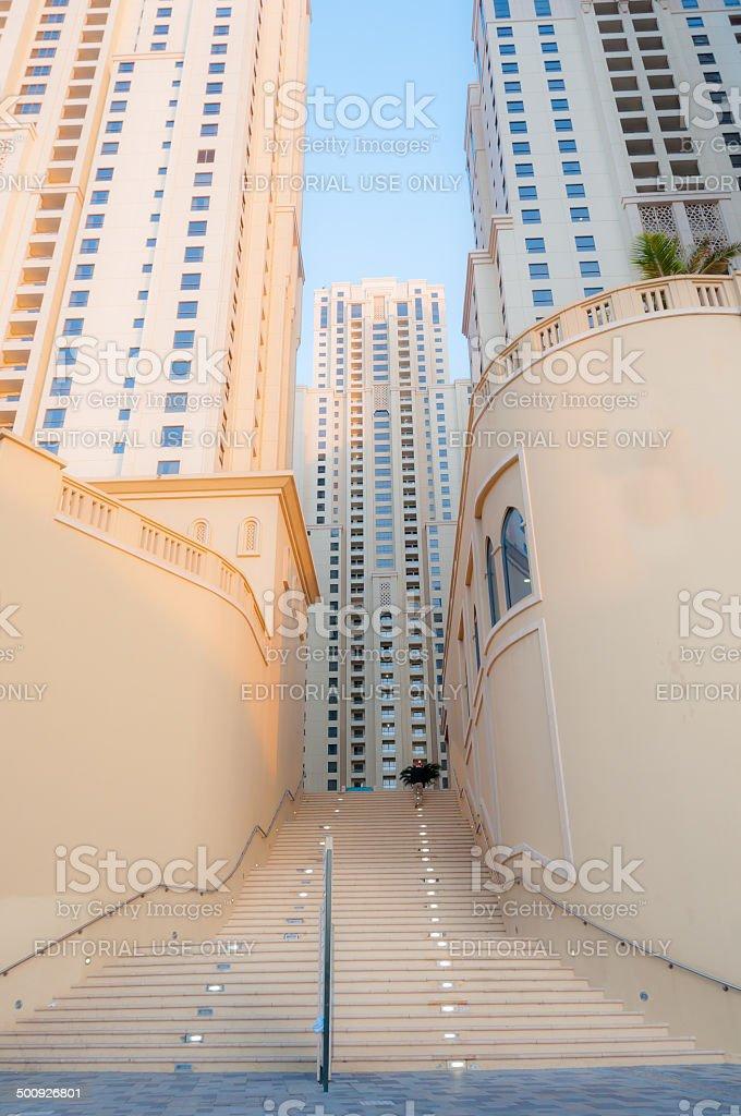 Apartments of Jumeirah Beach Residence  Dubai UAE stock photo