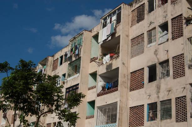 Apartments of Miramar Havana stock photo