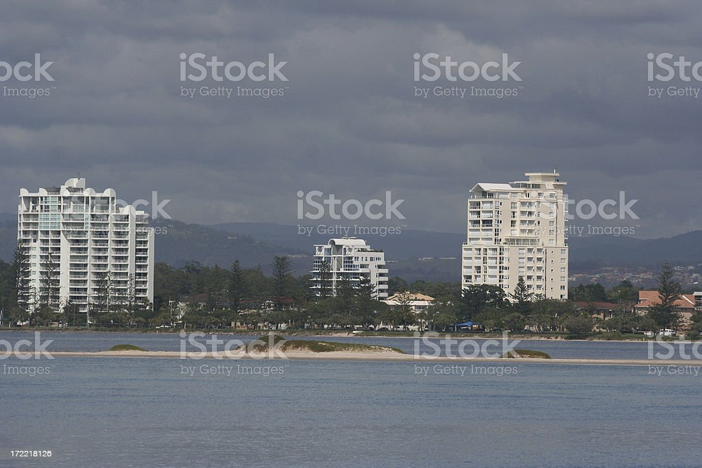 apartments on beach front royalty-free stock photo