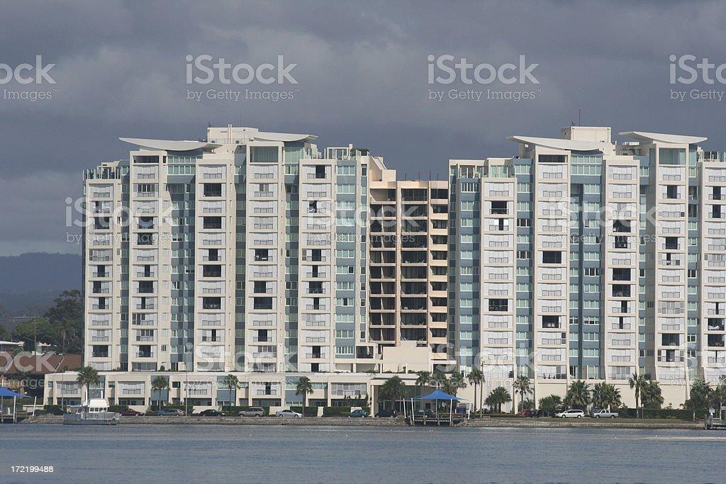 apartments on the beachfront - Royalty-free Apartment Stock Photo