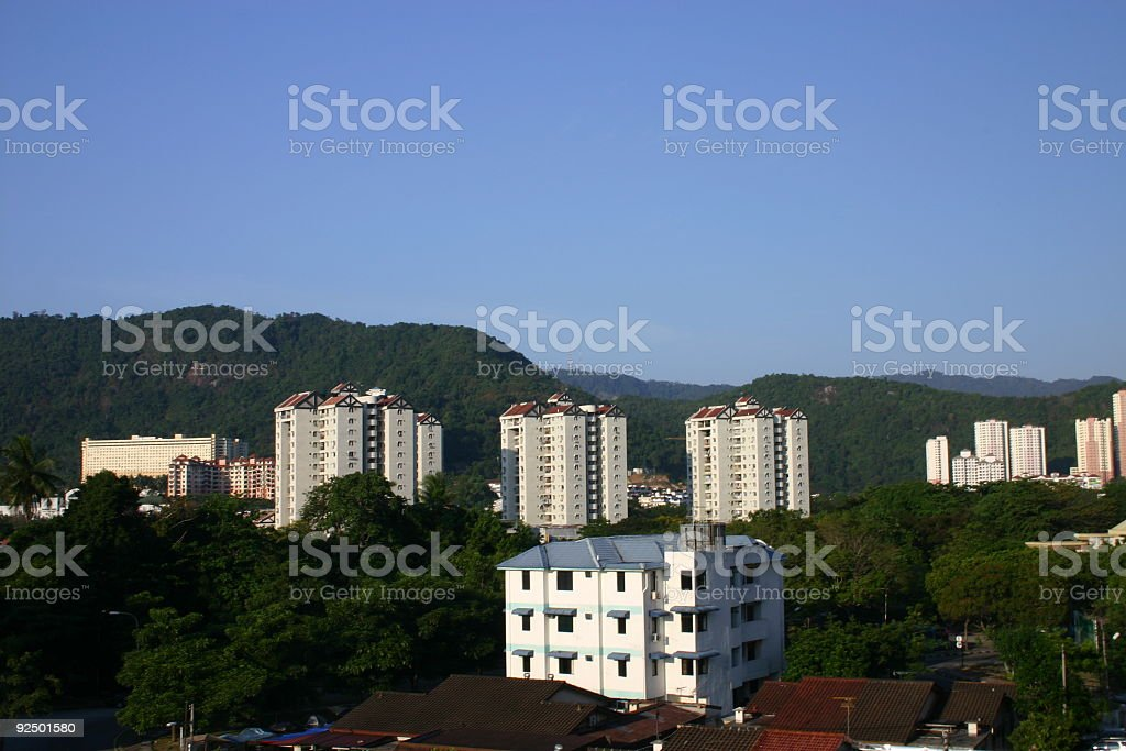 Apartments On The Hill royalty-free stock photo