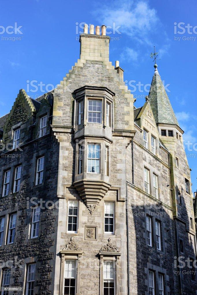 Apartments on The Royal Mile, Edinburgh, Scotland stock photo