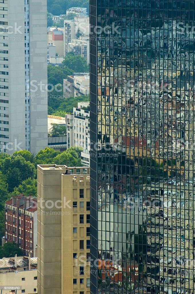 Apartments, skyscrapers, reflections royalty-free stock photo