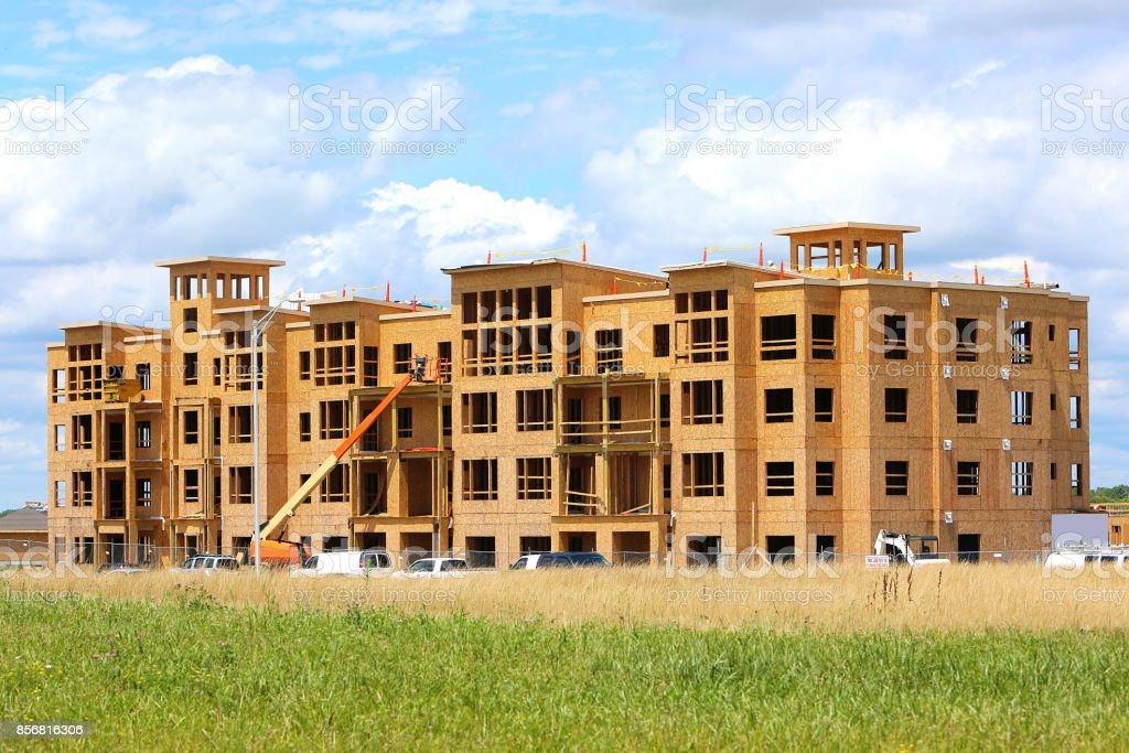 Apartments under Construction stock photo