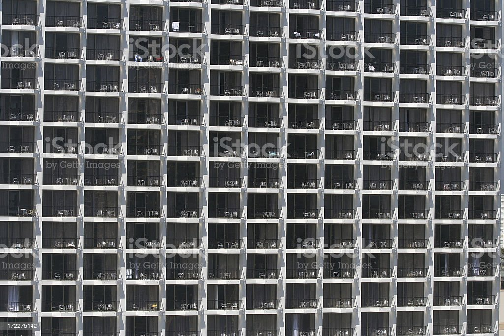 apartments windows and balconies - Royalty-free Apartment Stock Photo