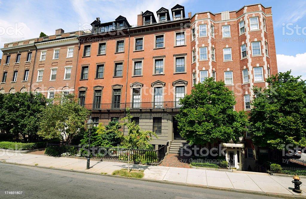 Apartments,Boston stock photo