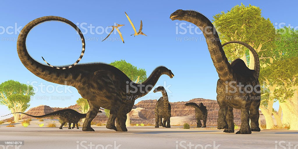 Apatosaurus Forest royalty-free stock photo