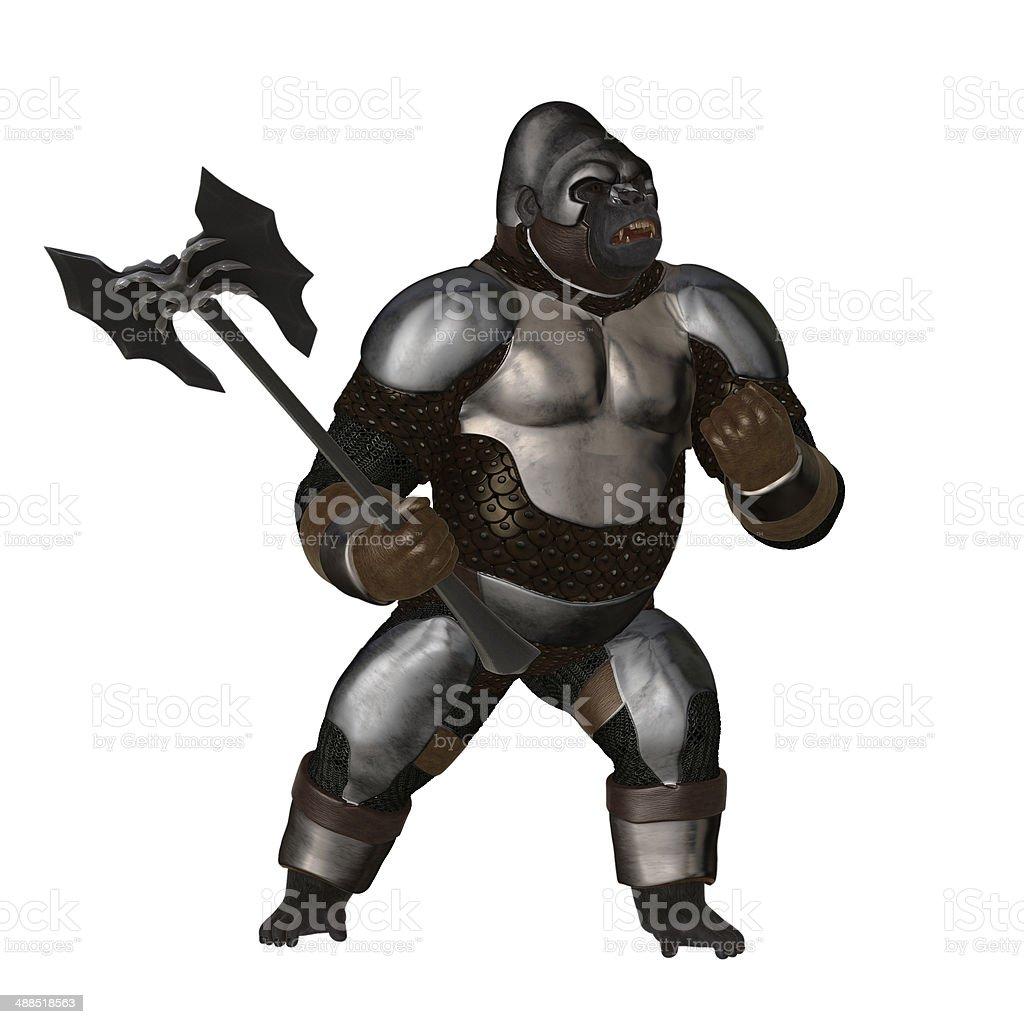 Ape warrior stock photo