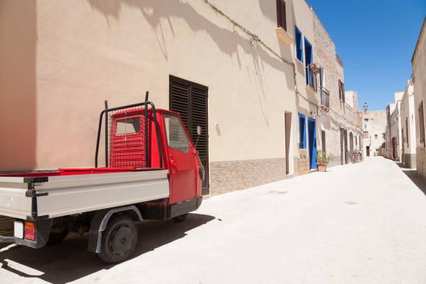 Apecar, Favignana, Italy - foto stock