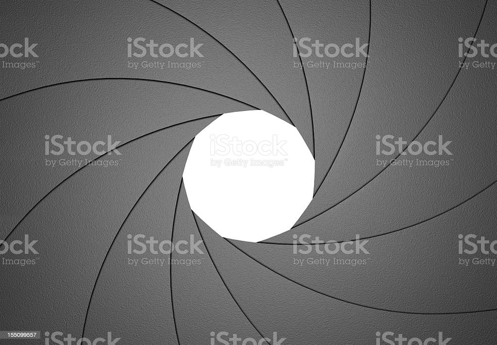 Aperture Diaphragm Design Element F8 stock photo