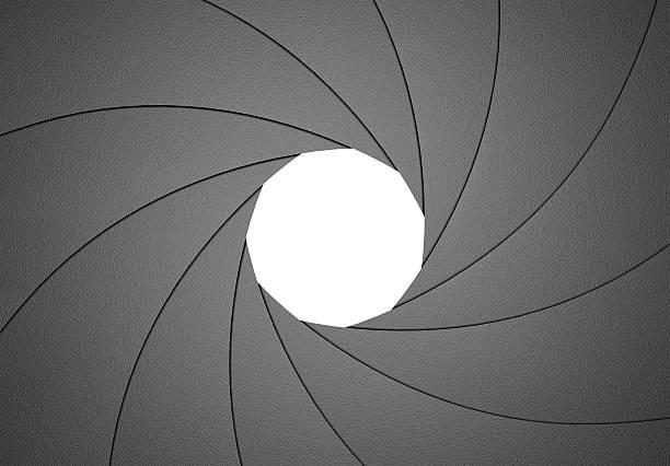 Apertura del diaframma elemento di Design F8 - foto stock