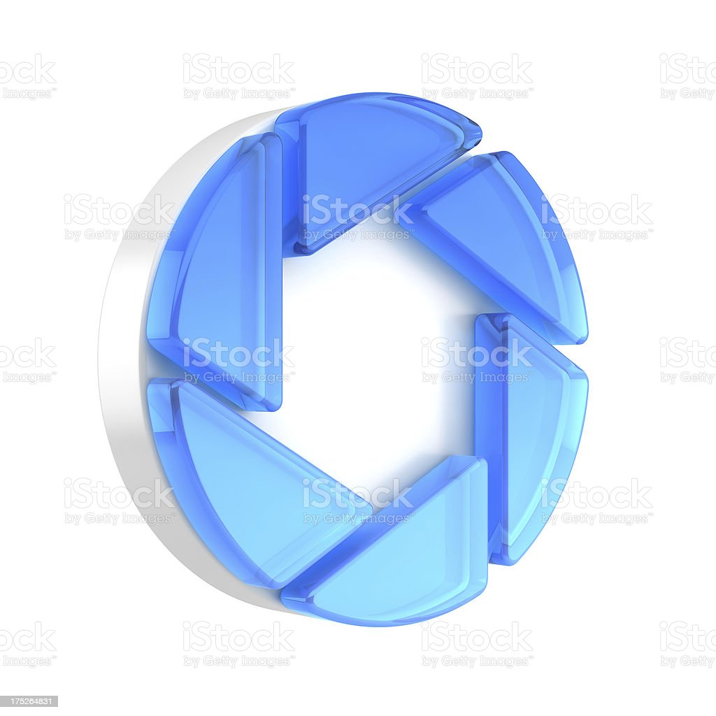 Aperture icon stock photo