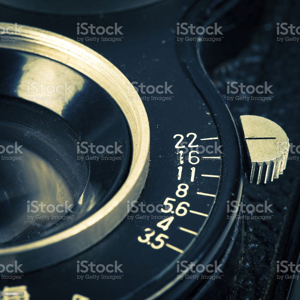 aperture on the camera royalty-free stock photo