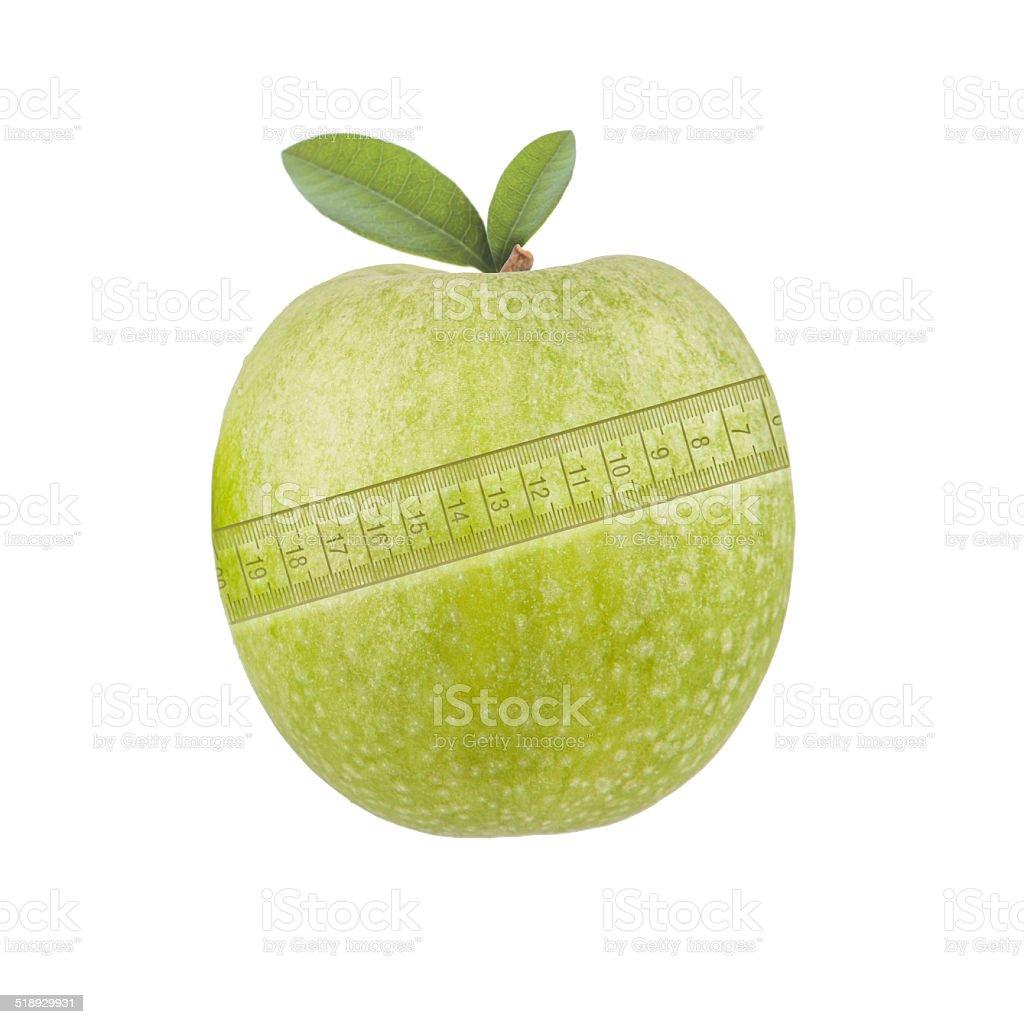 Apfel Maßband stock photo