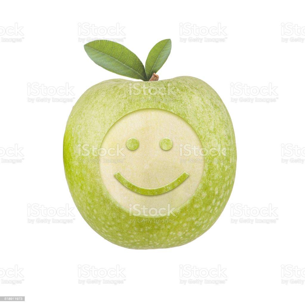 Apfel Smiley stock photo
