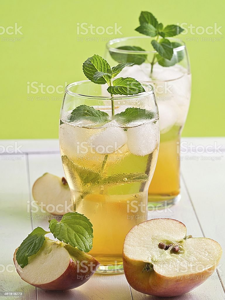 Apfelsaftschorle stock photo