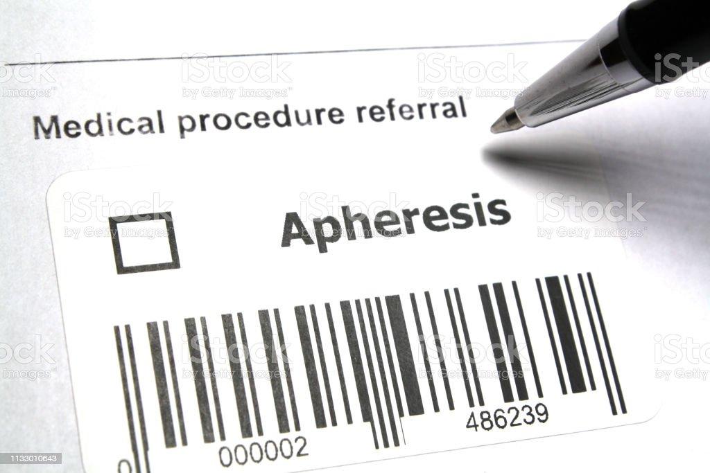 Apheresis stock photo