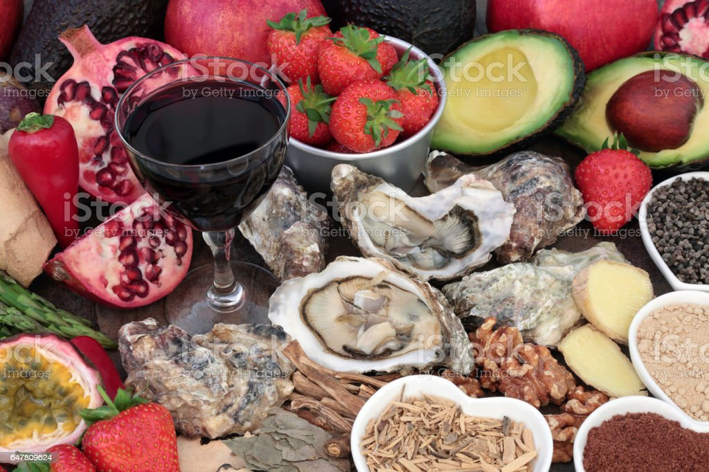 Aphrodisiac Food and Drink stock photo