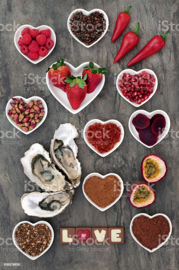 Aphrodisiac Food Sampler stock photo