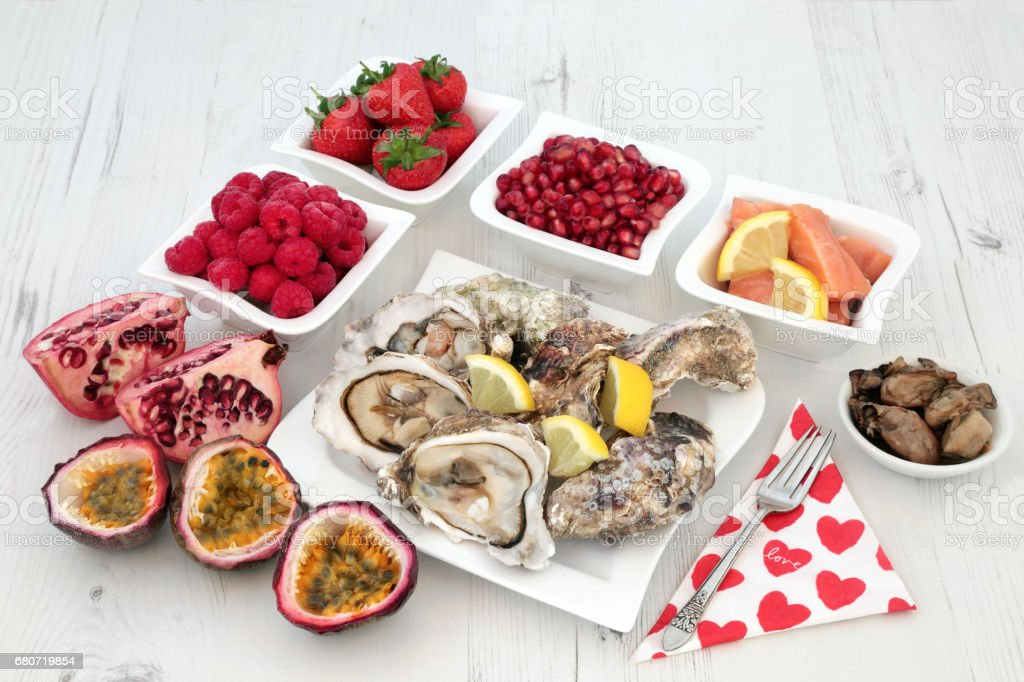 Aphrodisiac Love Food stock photo