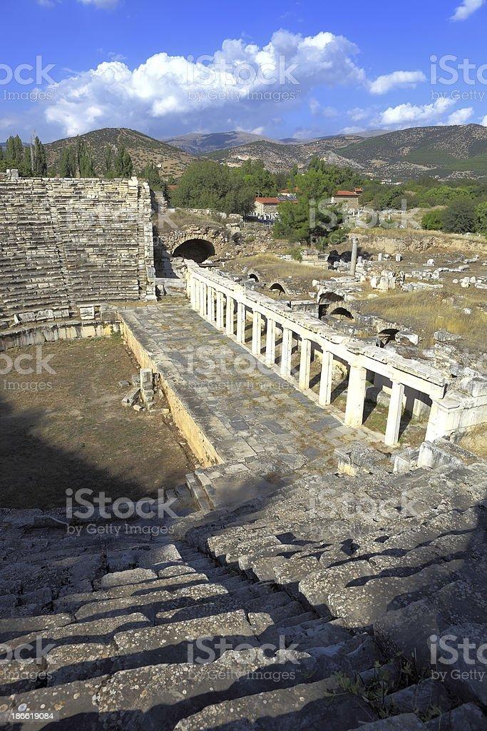 Aphrodisias  Amphitheatre royalty-free stock photo
