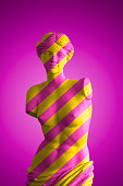Aphrodite, Goddess of love in pink and yellow stripes