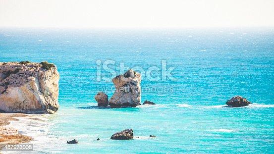 istock Aphrodite's Rock, Cyprus. 487973008