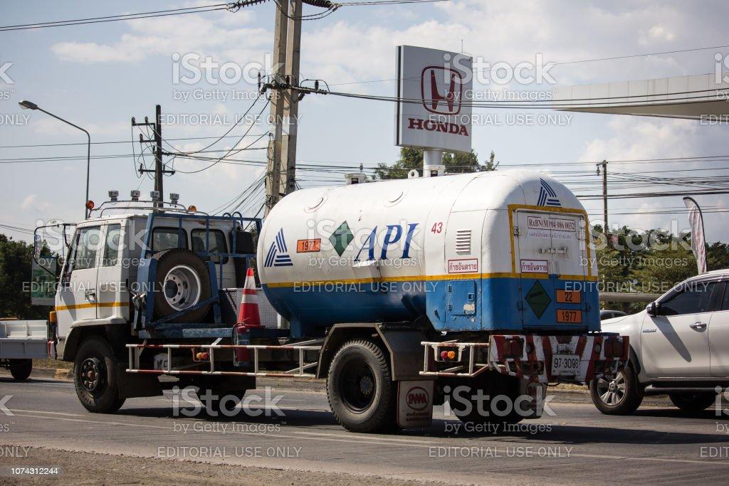 Camion de API de l'oxygène. - Photo