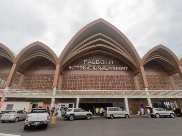 Apia Faleolo international airport in Samoa on Upolu Island stock photo