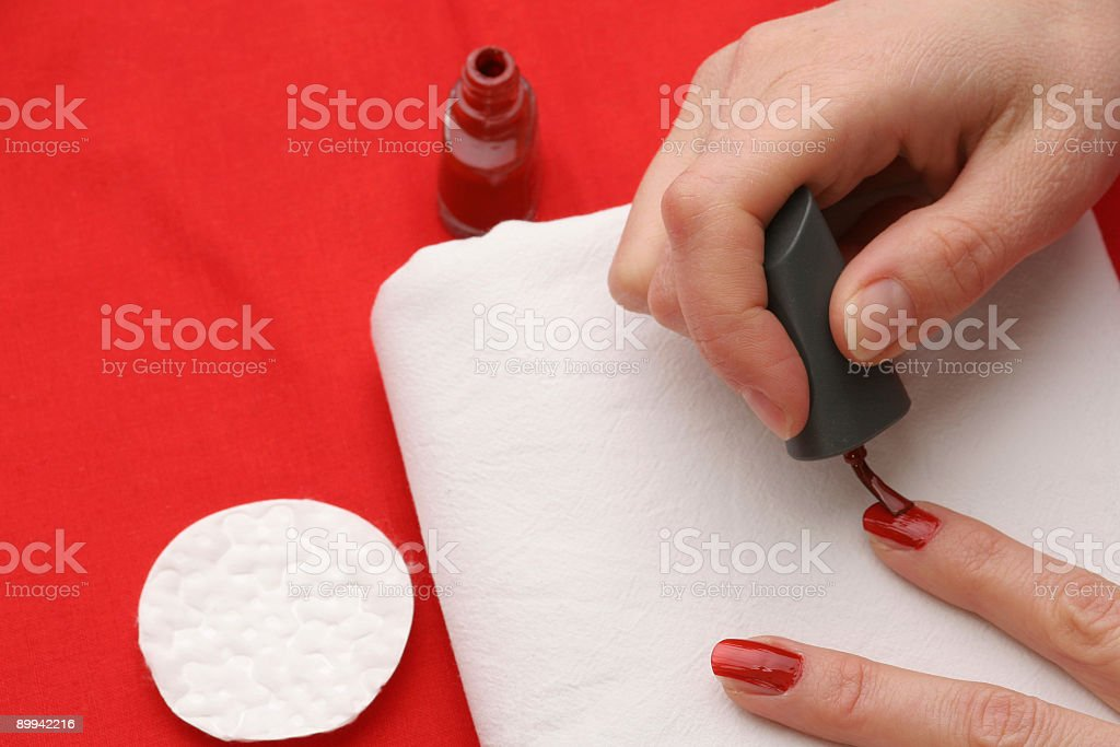 Aplaying red color royalty-free stock photo