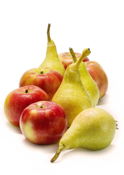 Aples and pears stock photo