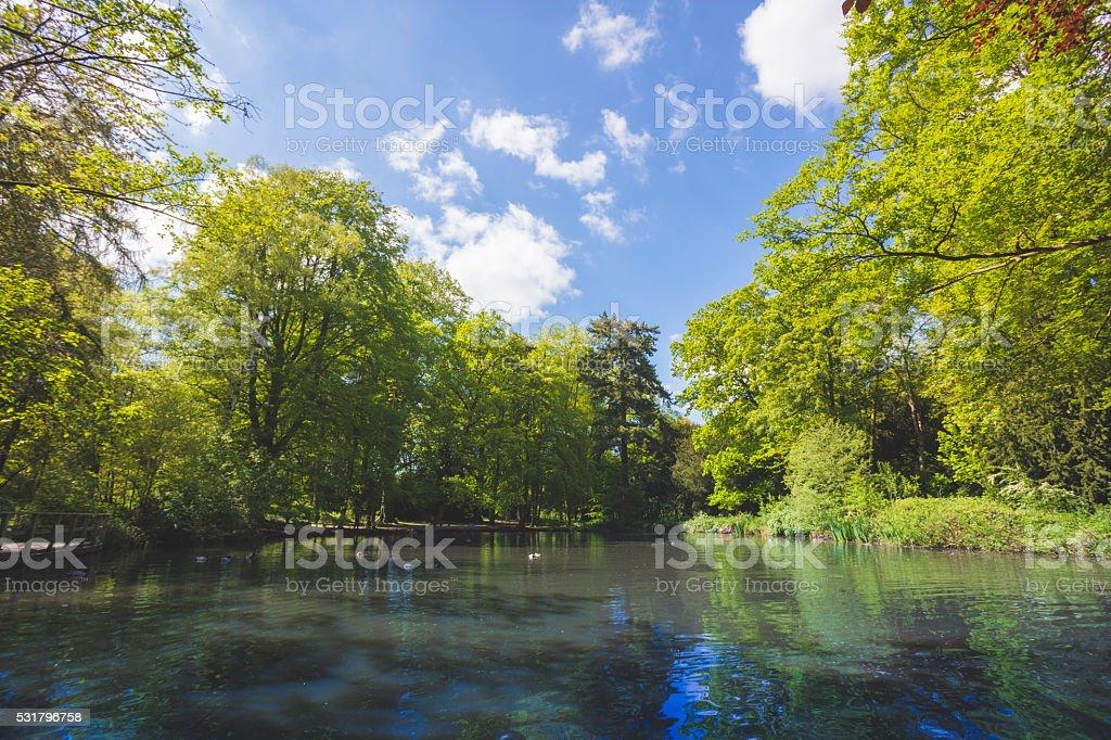 Apley Park Lake stock photo