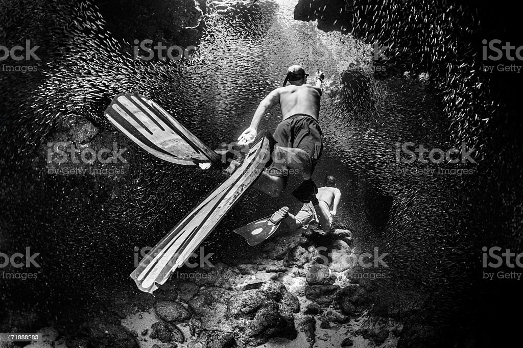 Apnea divers royalty-free stock photo