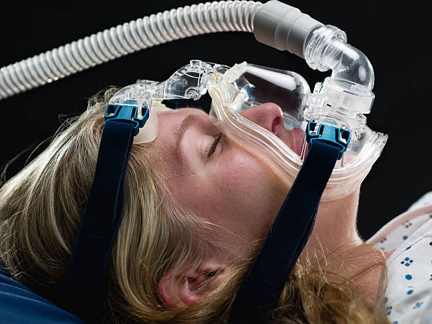 Apnea Medical Test  oxygen tube stock pictures, royalty-free photos & images