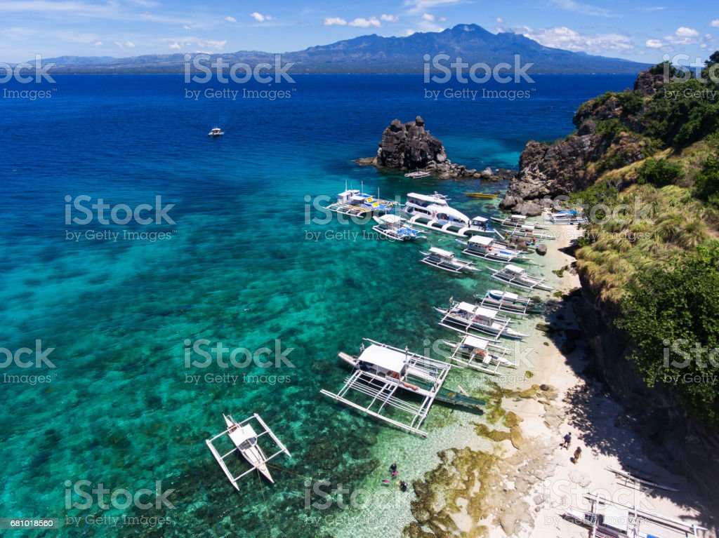 Apo island aerial view royalty-free stock photo