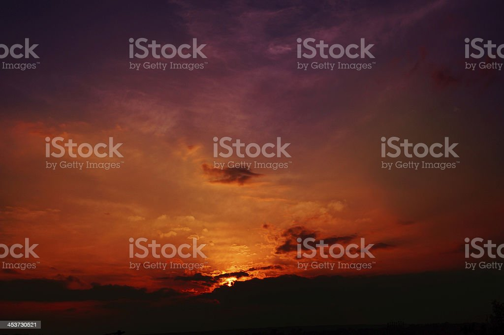 Apocaliptic sky the judgement day royalty-free stock photo