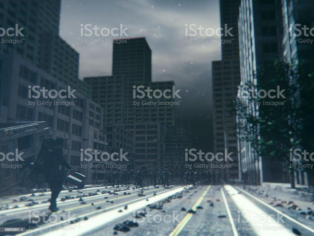 Apocalypse, day of the dead stock photo