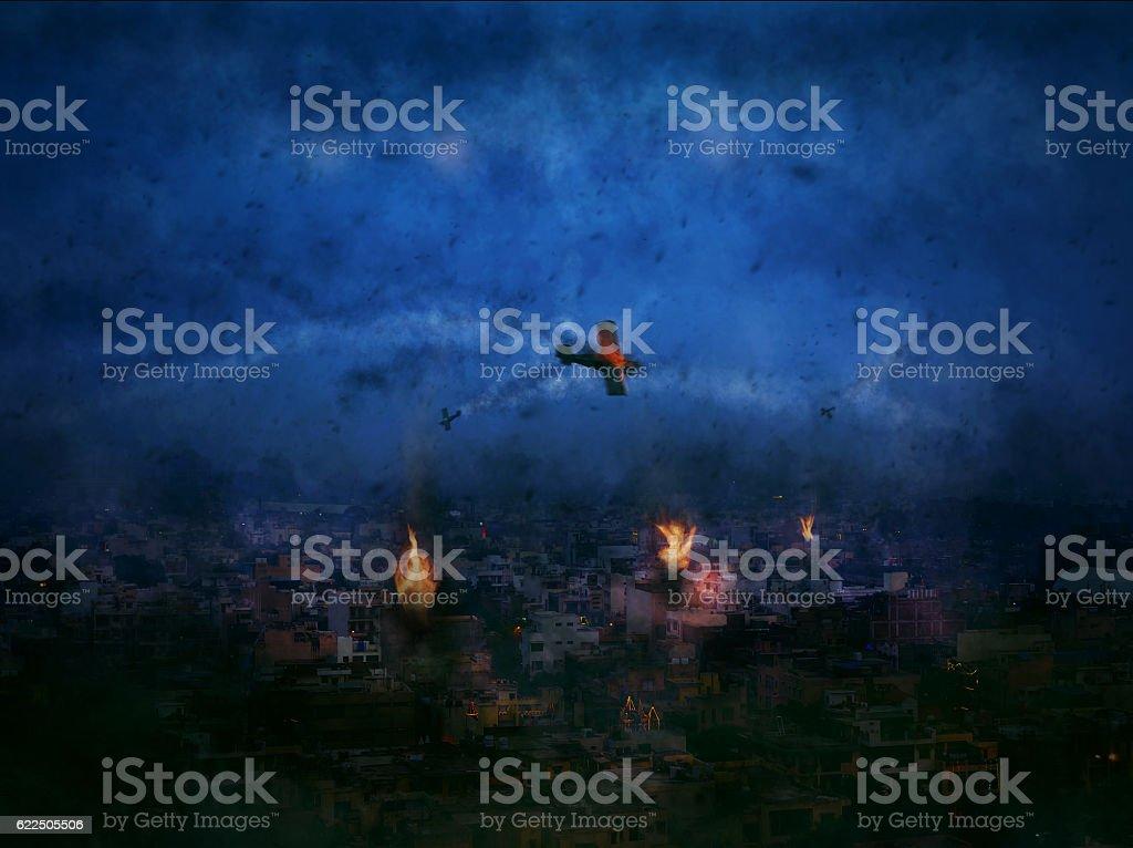 Apocalypse Just began New Delhi City India 2020 stock photo