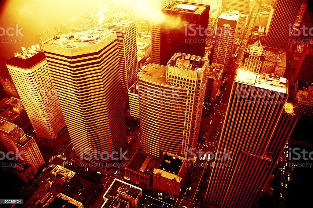 Apocalypse - Seattle Burning 1 royalty-free stock photo