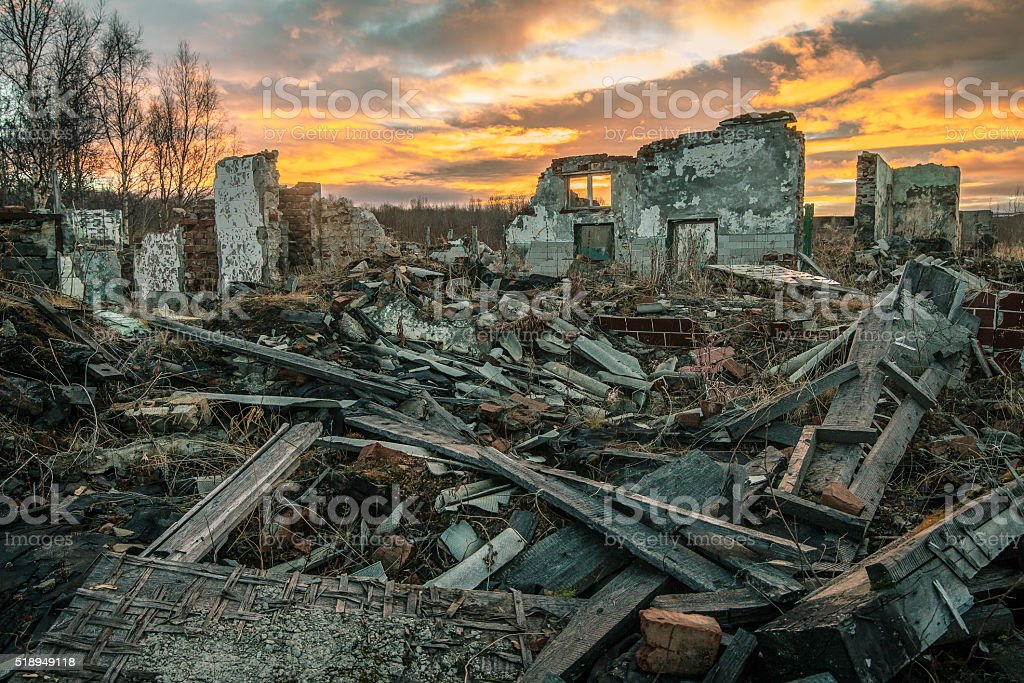 Apocalyptic landscape stock photo