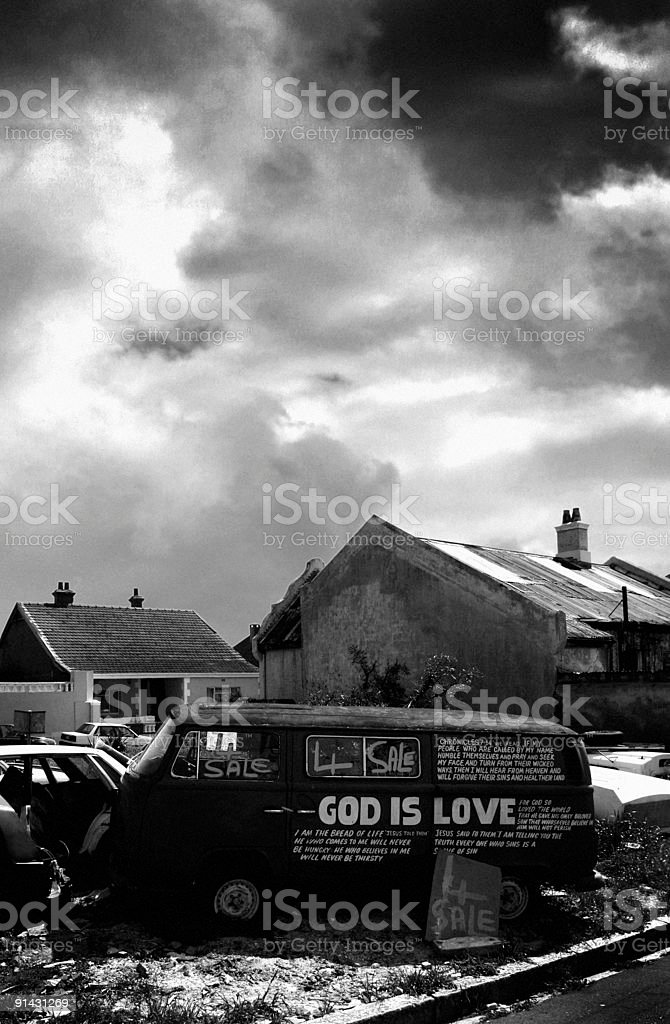 apocalyptic scene with messages from god royalty-free stock photo