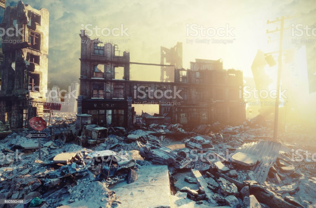apocalíptico ocaso. - foto de stock