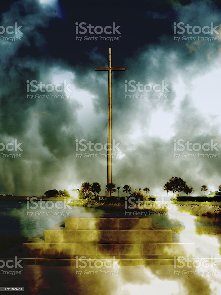Apocolypse Now - Heaven and Hell Meet at the Cross royalty-free stock photo