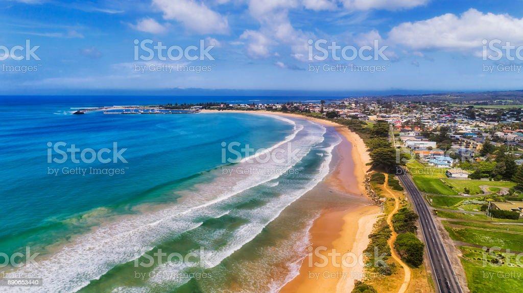 D Apollo bay beach 2 marina stock photo