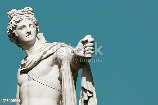 Apollo Belvedere statue, a copy of an antique italian marble statue discovered in the 15th century, from Drottningholm gardens.